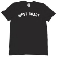 West Coast Tee Shirt Mens S black U