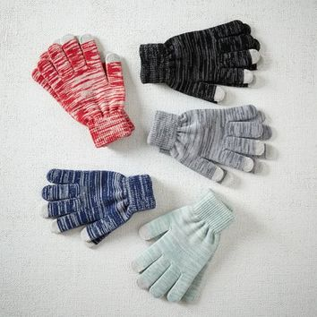 Marled Knit Tech Gloves