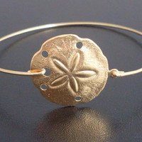 Valentines Day Bracelet, Lilly Pulitzer Inspired Sand Dollar bracelet Brass bangle, Gold Bracelet Cuff
