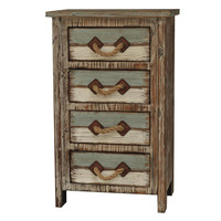 Crestview Nantucket 4 Drawer Weathered Wood Chest - CVFZR738