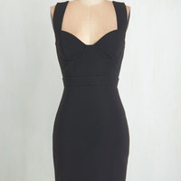 LBD Mid-length Sleeveless Bodycon All the Vixens Dress by ModCloth