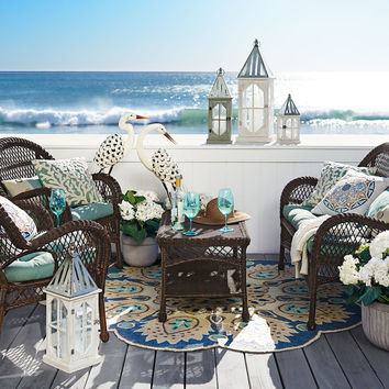 Santa Barbara 4 Piece Patio Set - Mocha