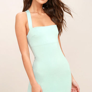 Play Time Light Blue Bodycon Dress
