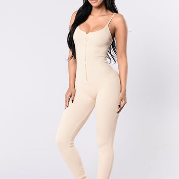 Natural Delight Jumpsuit - Soft Taupe
