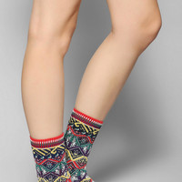 Anonymous Ism Zigzag Fair Isle Crew Sock - Urban Outfitters