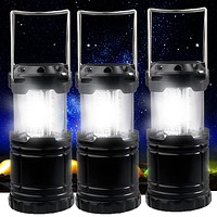 3 Portable Collapsible LED Lanterns
