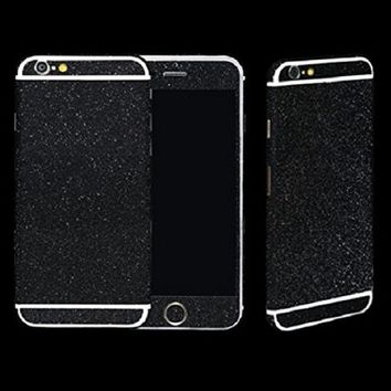 ABC(TM) Glittering Full Body Protect Sticker Skin Wrap Cover Film for iPhone 6 4.7 (Black)