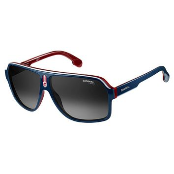 Carrera 1001/S Blue / Red Sunglasses, Dark Gray Gradient Lenses