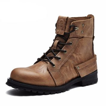 Luxury Leather Casual Boots for Men