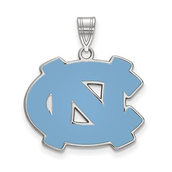 NCAA Sterling Silver North Carolina Large Enamel Pendant