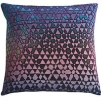 Triangles Velvet Peacock Pillows by Kevin O'Brien Studio