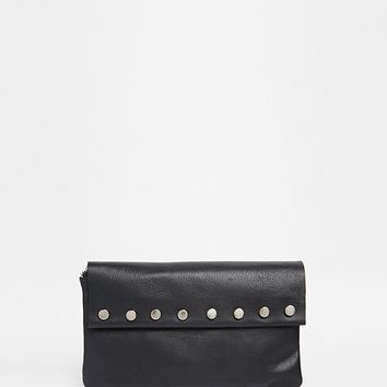 ASOS Leather Purse With Stud Detail