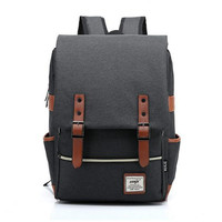 Fashion Canvas Men Daily Backpacks for Laptop Large Capacity Computer Bag Casual Student School Bagpacks Travel Rucksacks 1050tp