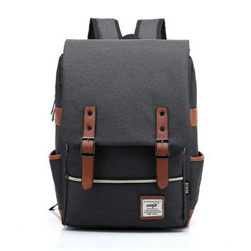Fashion Men Daily Canvas Backpacks for Laptop Large Capacity Computer Bag Casual Student School Bagpacks Travel Rucksacks 1050tp
