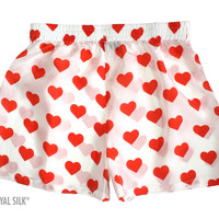 Silk Heart Boxers for Women by Royal Silk®, $35