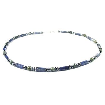 Mens Chakra Necklace Crystal Healing Stones Energy Balancing Jewelry Courage to Change MN26