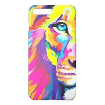 Colorful Lion Glossy iPhone 7 Plus Case