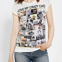 Happiness I Love My Crazy Cats Tee