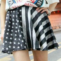 double side star and strips  pattern skirt from mancphoebe