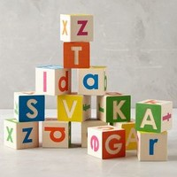 Alphabet Tumble Blocks by Anthropologie in Multi Size: One Size Gifts