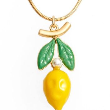 Tory Burch Delicate Lemon Charm Necklace | Nordstrom