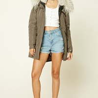 Shaggy Hooded Parka Jacket