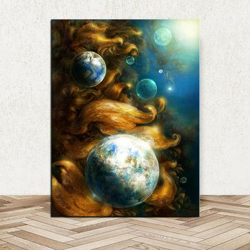 DPARTISAN planets Art huge Prints Wall Art Canvas Painting Wall Picture For Living Room abstract Decoration No Frame painting
