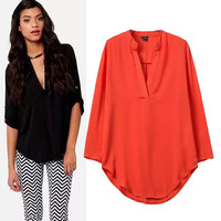 Women's Fashion Long Sleeve Pullover Tops Shirt [5013334852]