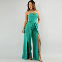 Women Green Fashion Sexy Jumpsuit