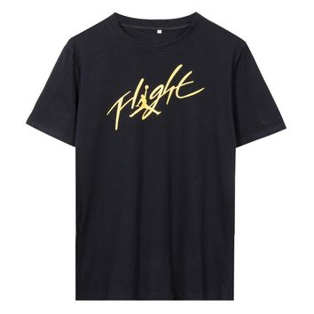 michael-jordan-signature-jumpman-flight-t-shirt-t-shirt-clothing-slim-t-shirts-tops-te number 1