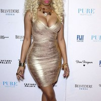 Open Back Shimmer Bandage Dress-- See On Nicki Minaj