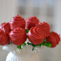 Rose Flower Cake Pops
