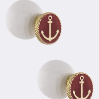 Double Sided Anchor Accent Earrings
