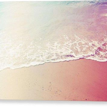 Ocean Air, Salty Hair, Watercolor Art By Adam Asar - Asar Studios - Canvas Print