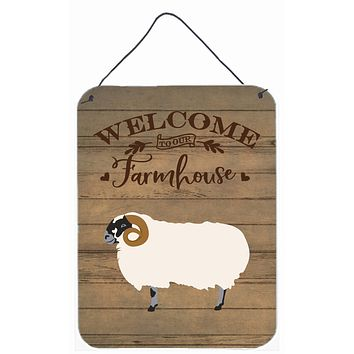Scottish Blackface Sheep Welcome Wall or Door Hanging Prints CK6917DS1216
