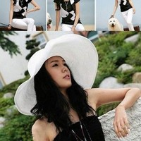 Summer Sun Hat White