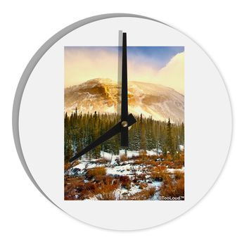"Nature Photography - Mountain Glow 8"" Round Wall Clock  by TooLoud"