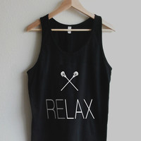 RELAX Lacrosse LAX Sticks Unisex Tank Top