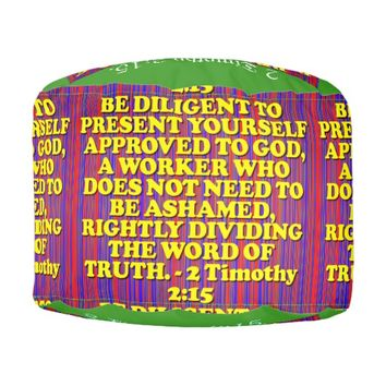 Bible verse from 2 Timothy 2:15. Pouf