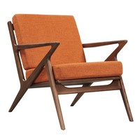 Jet Accent Chair ORANGE - WALNUT