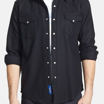 Men's Pendleton 'Canyon' Fitted Virgin Wool Flannel Western Shirt,