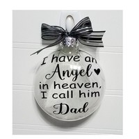 Dad Memorial Gift - Loss of Parent Sympathy Gift, Bereavement Personalized Christmas Ornament Add Name & Date