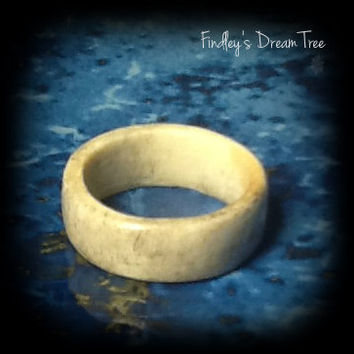 REAL Deer antler ring - Plain band - real deer antler jewelry - made from deer antler ring