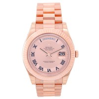 Rolex Rose Gold President Day-Date II Pink dial Automatic Wristwatch Ref 218235