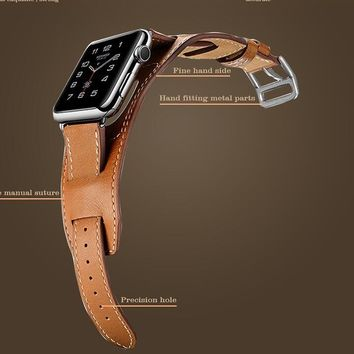 YIFALIAN Series 2/1 New Sale 38/42MM Leather Strap Cuff Bracelet Watch Bands For Apple Watch for iwatch