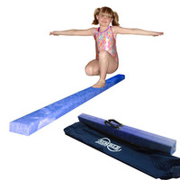 8ft Blue Gymnastics Folding Balance Beam by Nimble Sports