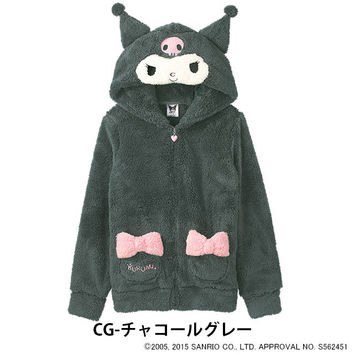 Lumwana Parker fluffy KUROMI Parker car tops (aimerfeel EMFILE Romare this Romare winter Romare long sleeve Hoodie Romare cute was what KUROMI MyMelody anime onegai my Melody)
