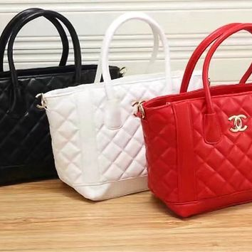 """Chanel"" Fashion Quilted Tote Single Shoulder Bag Women Temperament Big Handbag"