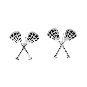 Girls Lacrosse Stick Earrings