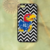 Kansas Jayhawks Chevron-iPhone 5, 5s, 5c, 4s, 4 case,Ipod touch 5, Samsung GS3, GS4 Rubber or Hard Plastic Case, Phone cover